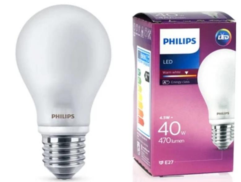 PHILIPS LED lamp 4,5W E27 230V WHITE