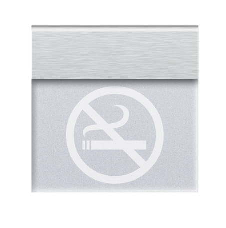 Informatico recessed luminaire NO SMOKING or your own inscription