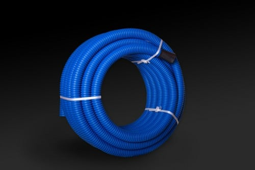 Rura Osłonowa karbowana wzmocniona do ziemi FI40 Niebieska