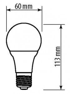 GTV LED bulb E27 A60 10 W 840 lm EMPTY 60W A + small 1