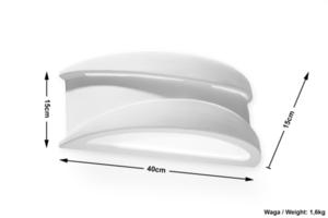 Ceramic wall light APOL small 5
