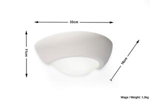 VIRGO Ceramic Wall Sconce small 4