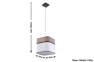 Hanging lamp Cappuccino small 4