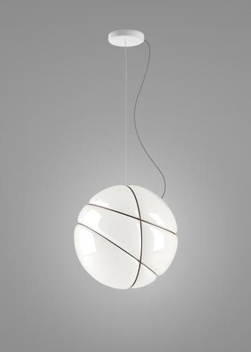 Hanging lamp Fabbian Armilla F50 13W - white and polished gold - F50 A01 01