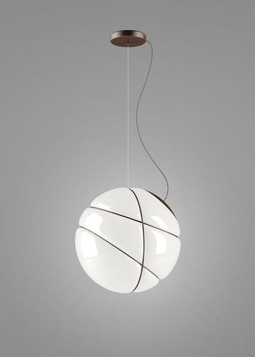Hanging lamp Fabbian Armilla F50 13W - white and brown - F50 A01 14