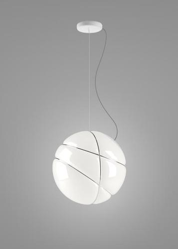 Hanging lamp Fabbian Armilla F50 13W - white and chrome - F50 A03 01