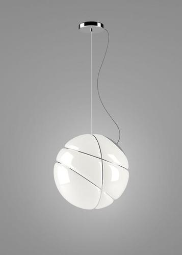 Hanging lamp Fabbian Armilla F50 13W - white and silver - F50 A03 15