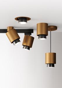 Hanging lamp Fabbian Claque F43 20W 20cm - Bronze - F43 A03 76 small 7