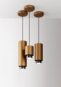 Hanging lamp Fabbian Claque F43 20W 20cm - Bronze - F43 A03 76 small 8