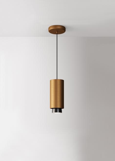 Hanging lamp Fabbian Claque F43 20W 20cm - Bronze - F43 A03 76