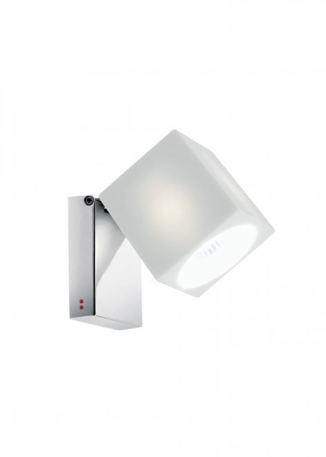 Spotlight Fabbian Cubetto D28 7W Chrome - White - D28 G03 01