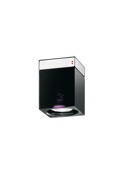 Reflector Fabbian Cubetto D28 7W Chrome - black - D28E01 02