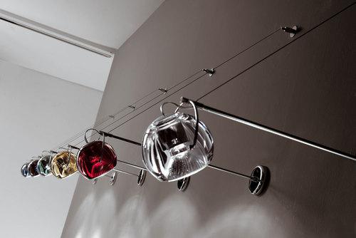 Hanging lamp Fabbian Beluga Color D57 7W Busbar - Transparent - D57 J05 00