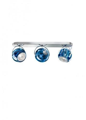 Fabbian Beluga Color D57 7W ceiling lamp Triple - blue - D57 G25 31