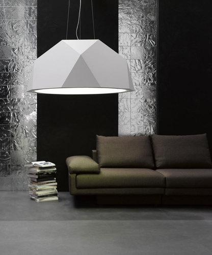 Hanging lamp Fabbian Crio D81 8W 180cm - White - D81 A17 01