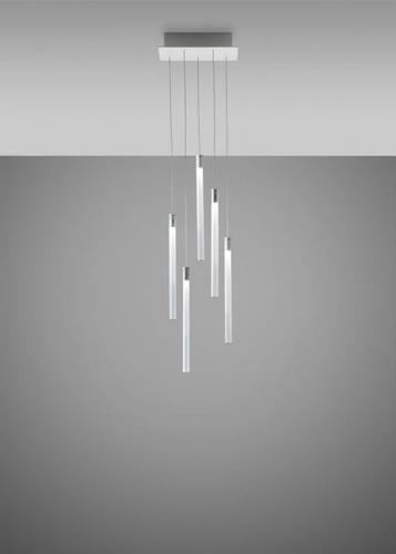 Hanging lamp Fabbian Multispot F32 30x15cm - 5 - Chrome - F32 A07 00
