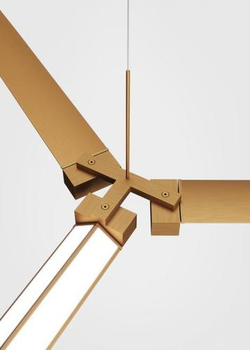 Fabbian Pivot F39 Accessories Triple connector - Bronze - F39 Z03 76
