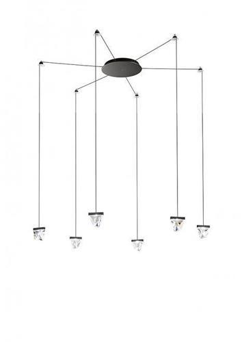 Hanging lamp Fabbian Tripla F41 3W 6 - Anthracite - F41 G04 21