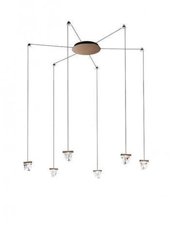 Hanging lamp Fabbian Tripla F41 3W 6 - Bronze - F41 G03 76
