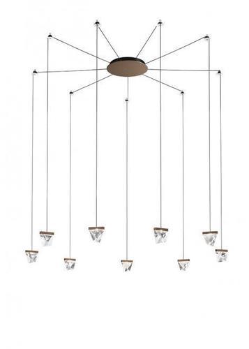 Hanging lamp Fabbian Tripla F41 3W 9 - Bronze - F41 G06 76