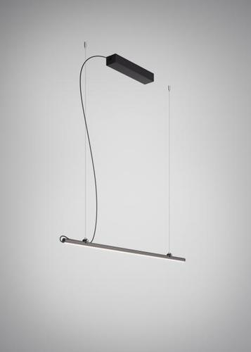 Hanging lamp Fabbian Freeline F44 4W 1m - Black - F44 A02 02