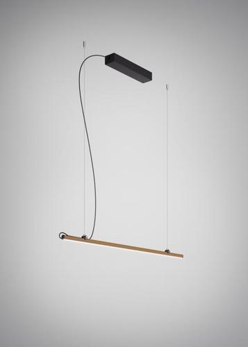 Hanging lamp Fabbian Freeline F44 4W 1m - Bronze - F44 A01 76