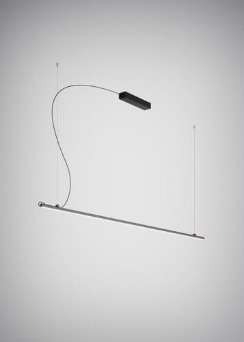 Hanging lamp Fabbian Freeline F44 8W 2m - Black - F44 A03 02