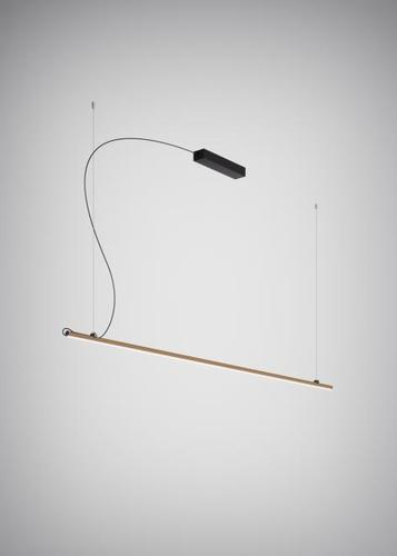 Hanging lamp Fabbian Freeline F44 8W 2m - Bronze - F44 A04 76