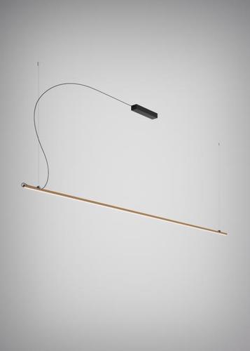 Hanging lamp Fabbian Freeline F44 2W 3m - Bronze - F44 A06 76