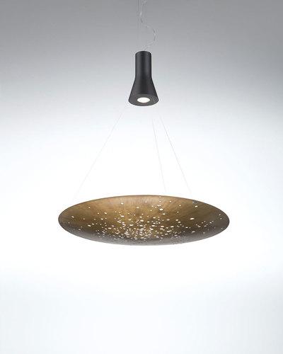 Hanging lamp Fabbian Lens F46 24W 90cm - Brushed bronze - F46 A03 14