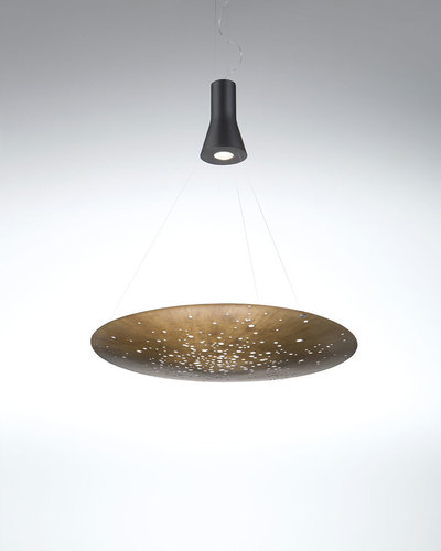 Hanging lamp Fabbian Lens F46 24W 90cm - Brown - F46 A03 76