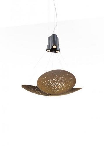 Hanging lamp Fabbian Lens F46 24W 106x100cm - Brown - F46 A05 76