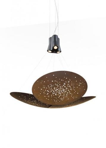 Hanging lamp Fabbian Lens F46 24W 161x152cm - Rust - F46 A07 56