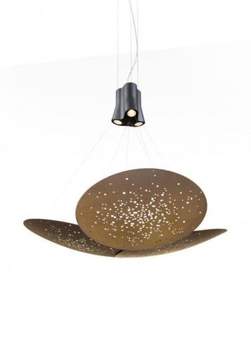 Hanging lamp Fabbian Lens F46 24W 161x152cm - Brown - F46 A07 76