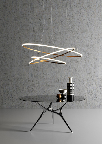 Hanging lamp Fabbian Olympic F45 56W 80,2cm 3000K - White - F45 A01 01