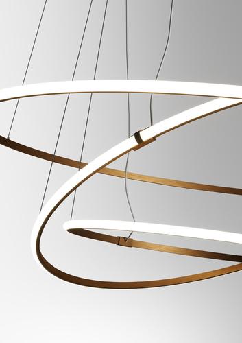 Hanging lamp Fabbian Olympic F45 56W 80,2cm 3000K - Bronze - F45 A01 76