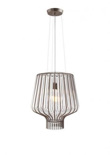 Hanging lamp Fabbian Saya F47 22W 40cm - Brown and transparent - F47 A10 00
