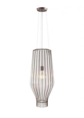 Hanging lamp Fabbian Saya F47 22W 31cm - Transparent and smoky - F47 A17 00