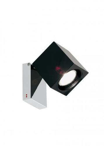 Reflector Fabbian Cubetto D28 7W Chrome - black - D28 G03 02