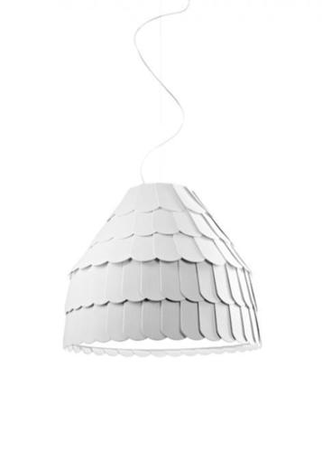 Hanging lamp Fabbian Roofer F12 22W 57cm - White - F12 A01 01
