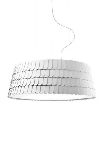 Hanging lamp Fabbian Roofer F12 119cm - White - F12 A09 01