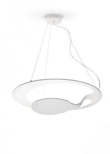 Hanging lamp Fabbian Glu F31 17W - White - F31 A01 01