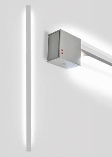 Wall lamp Fabbian Pivot F39 70W 3000K - Light gray - F39 G05 75