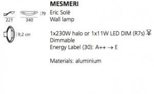 Artemide Mesmeri wall lamp (Silver) small 4