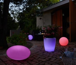 Set of 3 solar garden balls 30cm 40cm 50cm small 2