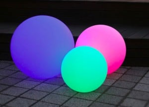 Set of 3 solar garden balls 30cm 40cm 50cm small 3