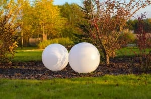 Set of 3 solar garden balls 30cm 40cm 50cm small 5