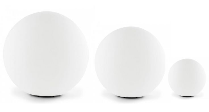 Set of 3 solar garden balls 30cm 40cm 50cm