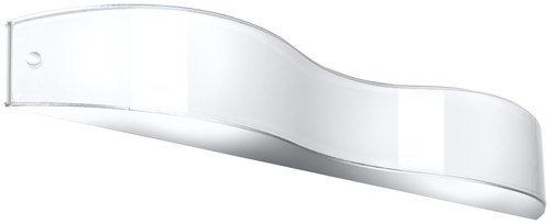 White / chrome Wall lamp VALLE 40