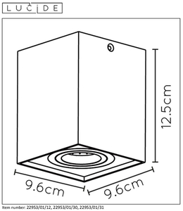 Lucide TUBE 22953/01/30 small 1